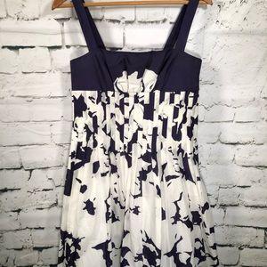Suzi Chin Dress. Navy and White. Lined.